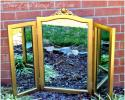 "26""T X 16""W Center, Both Sides 22""T X 9""W
