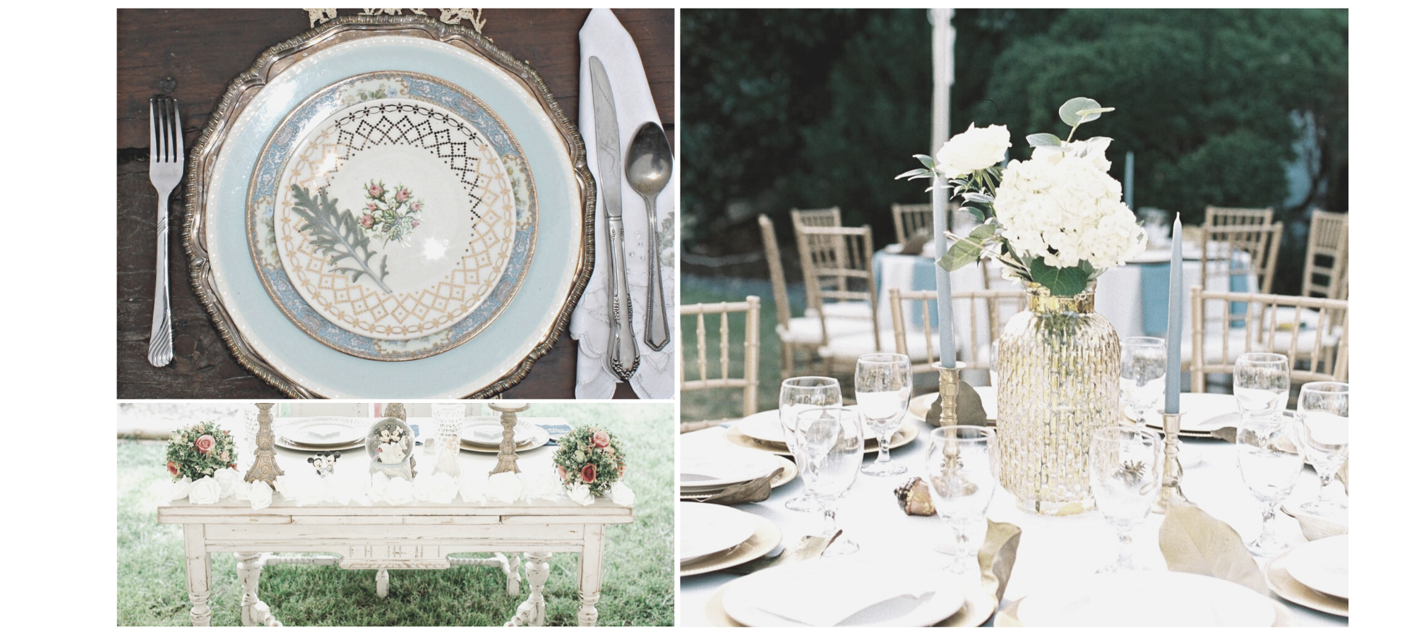 wedding decor collage